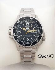 SEIKO 5 Sports Automatic 23 Jewels Blk Dial SKZ211K1 Stainless Steel SKZ211 New
