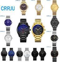 Men Ultra-thin Dial Wrist Watch Luxury Stainless Steel Analog Quartz Wristwatch