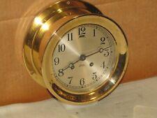 """New listing Chelsea Vintage Ships Bell Clock~6""""Dial~1948~Hi nged Bezel~Restored"""