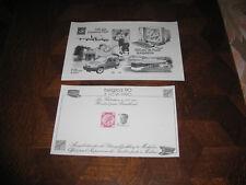 timbres belge feuillets noir et blanc