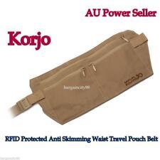 Korjo RFID Blocking Money Belt Travel Passport Holder Waist Wallet Pouch Bag