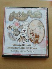 Debbi Moore Shabby Chic Vintsge Birds & Books For Gifts CD's