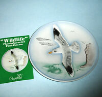 "Goebel Wildlife Collectors Wall Plate SILVER SEA GULL 5th Edt. 7.5"" Bas Relief"