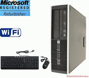 Lightning Fast HP Core i5 Windows 7 Pro Desktop PC Computer 8Gb 1Tb HDD WiFi