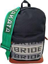 Bride Takata JDM backpack rucksack laptop pocket green racing harness