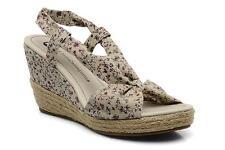 chaussures compensées LULU CASTAGNETTE beige imprimé - pointure 39 - neuves