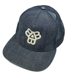 Bissell Brothers Brewing Denim Snapback Embroidered Hat Cap Craft Beer Portland
