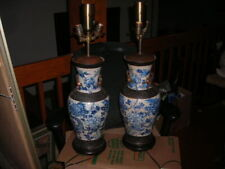 New listing Pair Of Huge Early Antique Dragon Motif Chinese Lamps