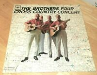 """The Brothers Four-Cross-Country Concert - Vinyl 12"""" LP 1963 NM Columbia- CL 1946"""