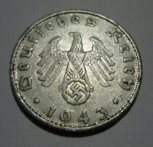 50 Reichspfennig 1939-1944 German Third Reich Buy 3 get 1 Free-Real Deal! WW2