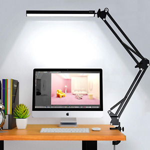 LED Desk Lamp,ELEKIN Metal Swing Arm Lamp, Reading Light Eye-Care Table Light, 3