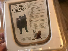 Petsafe Deluxe Cat Flap with Tunnel Door 4 Adjustable Settings Up To 12 Lbs New