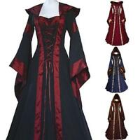 Medieval Dress Womens Vintage Renaissance Cosplay Holloween Costume Gown Dress