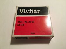 Original  VIVITAR RED FILTR  LENS 58MM #25(A) Japan NEW