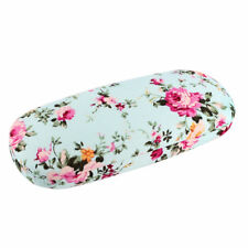 Floral Glasses Cases Box Hard Spectacle Eyewear Case Protector Holder Green