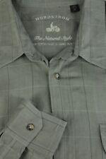 Nordstrom Men's Slate Gray Checker Cotton Casual Shirt XL XLarge