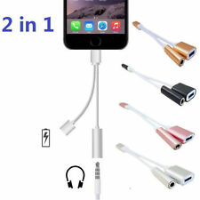 2in1 Adapter For Apple iPhone X 8 7 6 Plus Splitter Audio Earphone AUX Charger