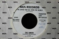 Cal Smith I Can Feel The Leavin' Coming On Promo 45-rpm Record
