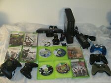 Microsoft Xbox 360 bundle lot controllers , video games  charger kinect consoles
