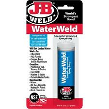 J-B WELD 8277 WaterWeld Underwater Epoxy Putty -- 2 oz.  NEW!!!