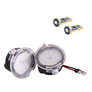 Upgrade For Ford Ranger & Mustang 2015-2020 LED Puddle Lamp Mirror Light Kit