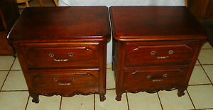 Pair of Cherry Nightstands / End Tables (RP-NS37)