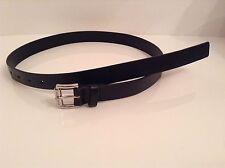 BNWTT 100% Auth Michael Kors, Mens Leather Black Belt With Logo. 4 / L-XL