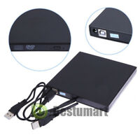 Slim Portable USB 2.0 External Optical DVD CD-RW Burner Writer Drive for PC MAC