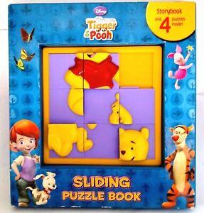 My Friends Tigger & Pooh Sliding Puzzle Book Disney Plus 4 Jigsaw Puzzles