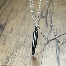 Cross Necklace Bullet Pendant Son Dad Gift Fashion Black Street Wind Hip Hop Men