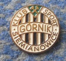 GORNIK SIEMIANOWICE POLAND FOOTBALL FUSSBALL SOCCER 1970's BIG GOLD PIN BADGE