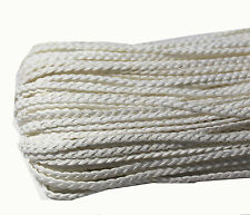 3M Twist three-ply braid Waxed Cotton Tender DIY Making Durable cord 5mm white