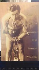 Vintage Magic Harry Houdini Mca 1992 Appleton Wisconsin Souvenir Program