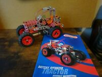 Vintage Meccano Tractor  Battery Operated with assembly instructions