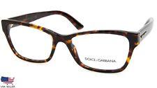 NEW D&G Dolce&Gabbana DG3274 502 DARK HAVANA EYEGLASSES GLASSES  54-17-140 Italy
