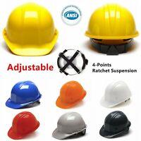 Pyramex Cap Style Hard Hat 4 Point Ratchet Suspension Construction Safety Helmet