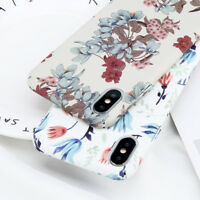 Vintage Floral Slim Thin Hard Shockproof Cover Case Skin for iPhone 6 7 Plus 8 X