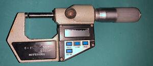 Mitutoyo digital micrometer.