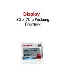 Sponser Power Gums Fruitmix 20 x 75 g Packung Display Kaubonbons  Koffein