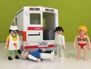 Playmobil Ambulance 5952 Incomplete  and  4 Figures