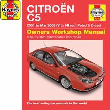 [4745] Citroen C5 1.8 2.0 Petrol 1.6 2.0 Turbo Diesel 01-08 (Y to 08) Haynes Man