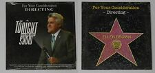 The Tonight Show Jay Leno  FYC U.S. promo dvd, card cover