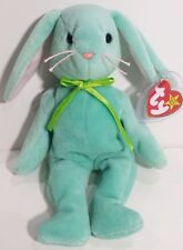 "TY Beanie Babies ""HIPPITY"" Mint Green EASTER Bunny RABBIT - MWMTs! RETIRED! GIFT"