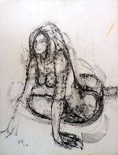 Guy-Max HIRI (1928-1999) Dessin Drawning Nu Nle Ecole de Paris Jeune Peinture