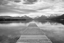 "Montana Dock 8x12"" Black & White Photo (Peter Lik Style)"