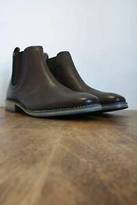 Stanford Brown Leather Chelsea Boots