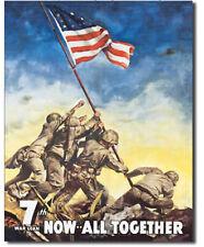 War bonds Metal tin sign all together support military Usa home garage decor new