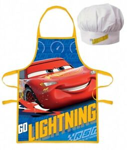 Disney Cars Apron and Chef's Hat Set. Lightning McQueen. Age 3-8 years