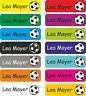 125x Wunsch Text Namen Aufkleber Kindergarten Etiketten Fußball Schule 30x9 E28