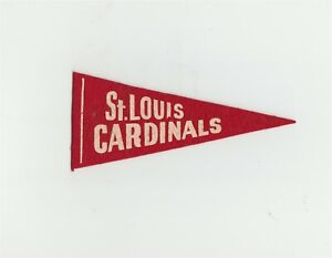 "1930's Red Ball Gum St Louis Cardinals 5.5"" Mini Pennant Baseball B9374"